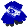 Touch Gloves with ornament blue/white рис.1