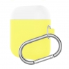 Airpods Silicon case mix color with hook yellow/white (in box) рис.1