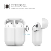 Airpods Silicon case mix color with hook lavender purple/sea blue (in box) рис.3