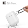 Airpods Silicon case mix color with hook dark brown/sea blue (in box) мал.2