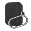 New Airpods Silicon case with hook black (in box) рис.1