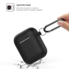New Airpods Silicon case with hook black (in box) рис.2