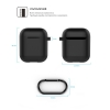 New Airpods Silicon case with hook black (in box) рис.4