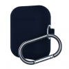 New Airpods Silicon case with hook midnight blue (in box) рис.1