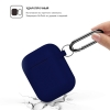 New Airpods Silicon case with hook midnight blue (in box) рис.2