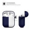 New Airpods Silicon case with hook midnight blue (in box) рис.3