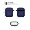 New Airpods Silicon case with hook midnight blue (in box) рис.4