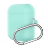 New Airpods Silicon case with hook sea blue (in box) рис.1