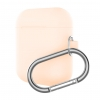 New Airpods Silicon case with hook pink sand (in box) рис.1