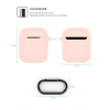 New Airpods Silicon case with hook pink sand (in box) рис.4