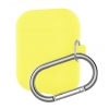 New Airpods Silicon case with hook yellow (in box) рис.1