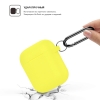 New Airpods Silicon case with hook yellow (in box) рис.2