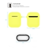 New Airpods Silicon case with hook yellow (in box) рис.4