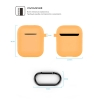 New Airpods Silicon case with hook nectarine (in box) рис.4