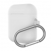New Airpods Silicon case with hook white (in box) рис.1