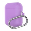 New Airpods Silicon case with hook lavender purple (in box) рис.1