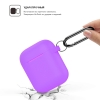 New Airpods Silicon case with hook lavender purple (in box) рис.2