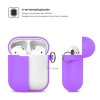 New Airpods Silicon case with hook lavender purple (in box) рис.3