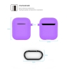 New Airpods Silicon case with hook lavender purple (in box) рис.4