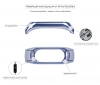 ArmorStandart Metal Milanese Magnetic Band for Xiaomi Mi Band 3 Blue рис.4