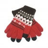 Touch Gloves with ornament red/brown size M рис.1