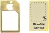 Micro Sim to Sim Adapter Gold мал.1