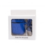 Airpods Silicon case with carbine+straps light blue (in box) мал.1