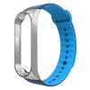 ArmorStandart Sport Silicone Band for Xiaomi Mi Band 3 Silver/Blue-Light Blue мал.1