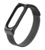 Mijobs Metal Milanese SE Band for Xiaomi Mi Band 4/3 Black рис.1