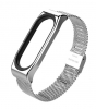 Mijobs Metal Milanese Band for Xiaomi Mi Band 4/3 Silver рис.1