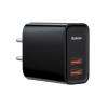 Baseus Speed Dual QC3.0 Quick charger U+U 30W EU Black (CCFS-E01) рис.1