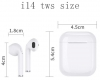 Bluetooth Headphones TWS i14 White рис.3