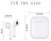 Bluetooth Headphones TWS i14 White мал.3