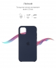 Silicone Case Original for Apple iPhone 11 Pro (OEM) - Midnight Blue мал.3