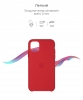 Silicone Case Original for Apple iPhone 11 Pro (OEM) - Red мал.3