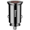 Baseus Circular Plastic A+A 30W Dual QC3.0 Quick Car Charger(QC 3.0,SCP,AFC)  Black (CCALL-YD01) рис.1