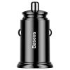 Baseus Circular Plastic A+A 30W Dual QC3.0 Quick Car Charger(QC 3.0,SCP,AFC)  Black (CCALL-YD01) рис.2