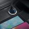 Baseus Circular Plastic A+A 30W Dual QC3.0 Quick Car Charger(QC 3.0,SCP,AFC)  Black (CCALL-YD01) рис.6