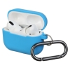 Airpods Pro Ultrathin Silicon case with hook Blue (in box) рис.1