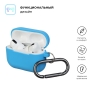 Airpods Pro Ultrathin Silicon case with hook Blue (in box) мал.2
