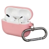 Airpods Pro Ultrathin Silicon case with hook Pink (in box) рис.1