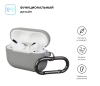Airpods Pro Ultrathin Silicon case with hook Light Grey (in box) рис.2