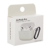 Airpods Pro Ultrathin Silicon case with hook Light Grey (in box) рис.3