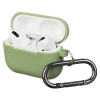 Airpods Pro Ultrathin Silicon case with hook Matcha Green (in box) рис.1