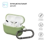 Airpods Pro Ultrathin Silicon case with hook Matcha Green (in box) рис.2