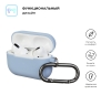 Airpods Pro Ultrathin Silicon case with hook Light Blue (in box) рис.2