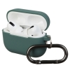 Airpods Pro Ultrathin Silicon case with hook Pine Needle Green (in box) рис.1