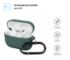 Airpods Pro Ultrathin Silicon case with hook Pine Needle Green (in box) мал.2