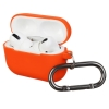 Airpods Pro Ultrathin Silicon case with hook Orange (in box) мал.1