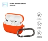 Airpods Pro Ultrathin Silicon case with hook Orange (in box) мал.2
